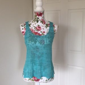 Crochet Knit Tank Top size S